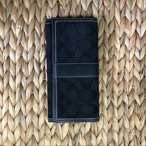 COACH large black wallet